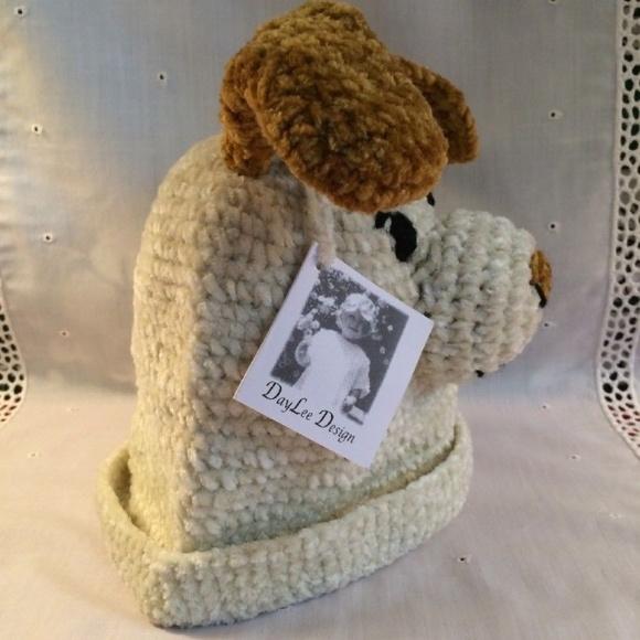 Daylee Design Accessories Baby Hat Crochet Puppy Dog Sz 03 Mo